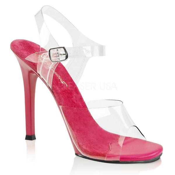 Durchsichtige High-Heel Sandalette GALA-08